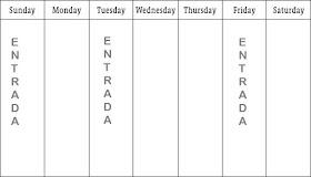 Calendario del blog