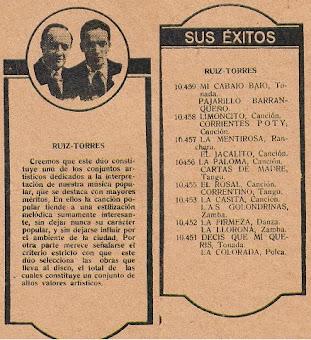 Dúo Ruiz-Torres 1930