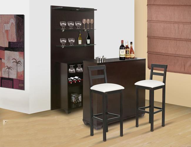 Decoraci n minimalista y contempor nea muebles modernos for Bar de madera para sala