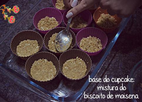 Cookie Cupcake - Passo a passo - base do cupcake