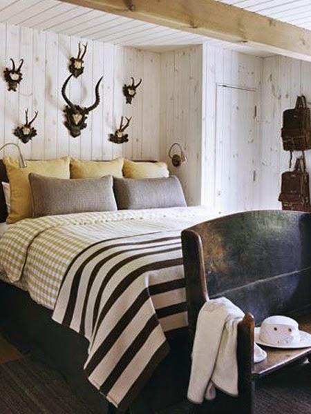 Dekoracja sypialni porożem