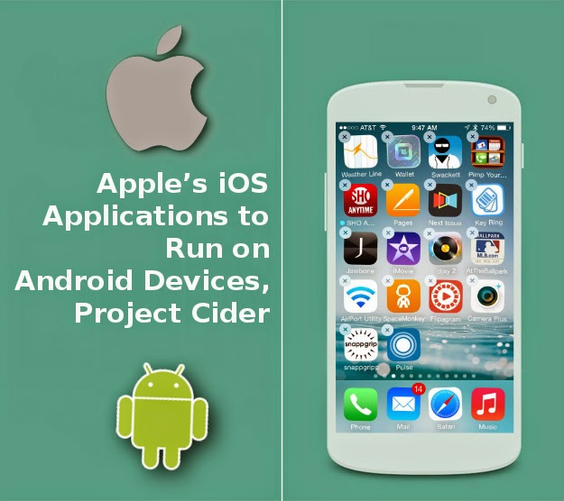 apple s ios applications to run on android devices project cider mobiletechforce complete