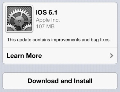 Apple iOS 6.1 Official Firmwares