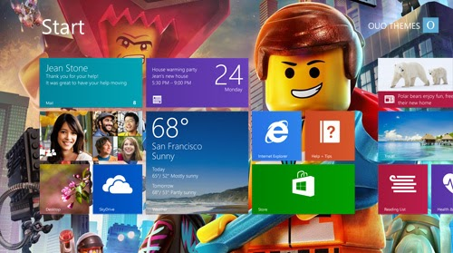 The Lego Movie Theme For Windows 7 And 8 8.1