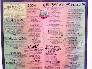 Gatorbites Restaurant Menu