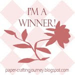 jeg vant Paper-Crafting Journey Challenge Blog Blog Hop/Anything Goes Challenge