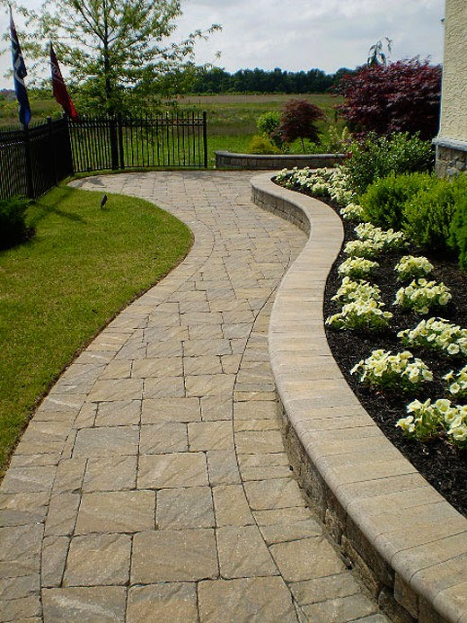 Design paving stone walkway