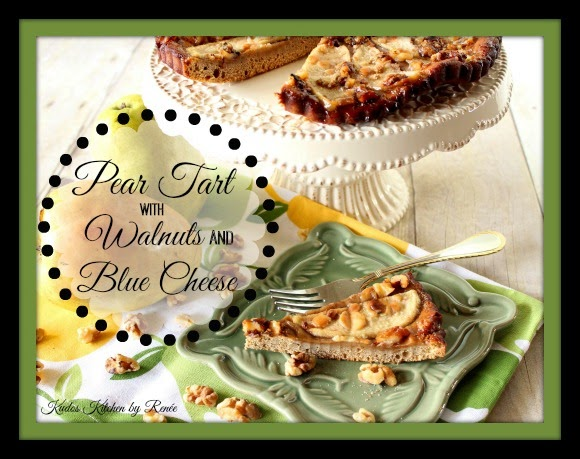 Pear Tart with Walnuts and Blue Cheese