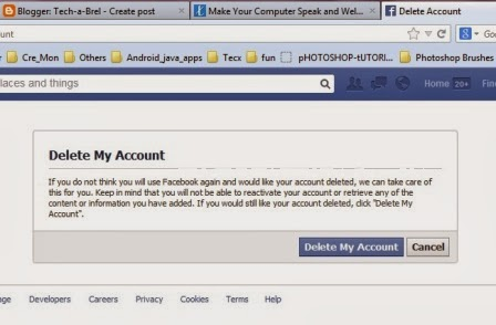 """ow click on """"Delete My Account"""". After that you'll need to ente..."""