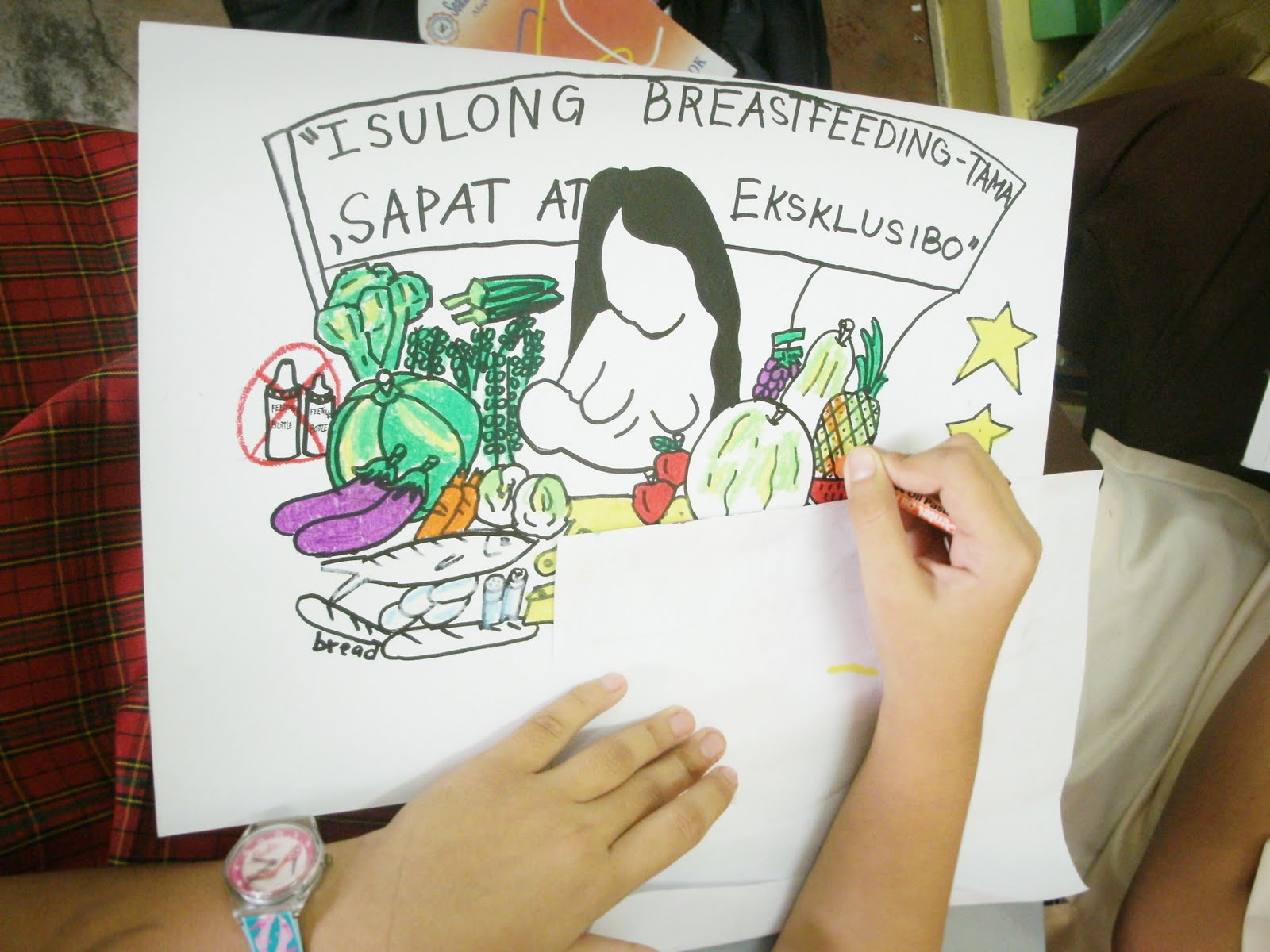 Nutrition Month Poster Making http://melaenchanted.blogspot.com/2011/07/nutrition-month-art-contest-photos-art.html