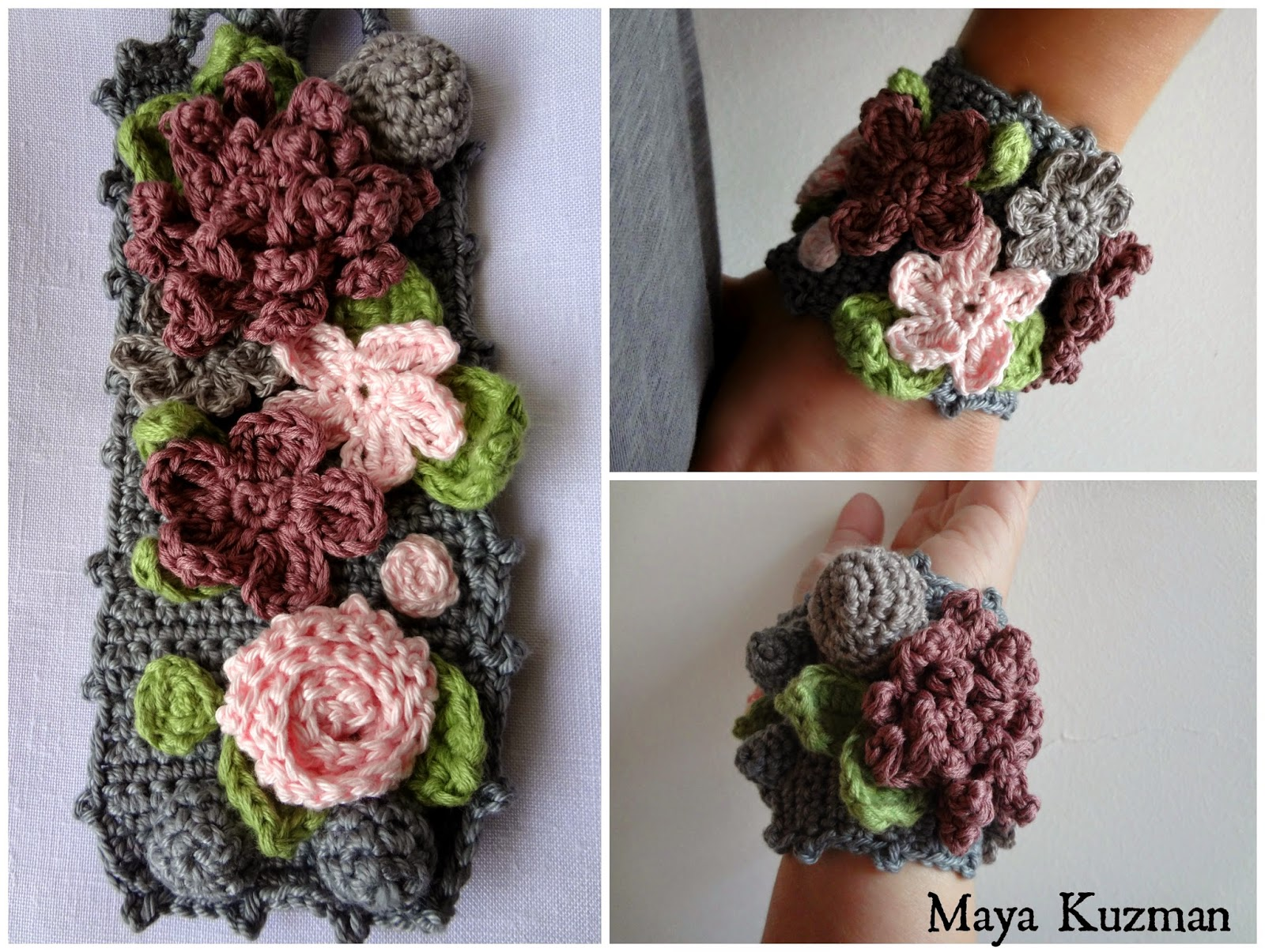 Boho Crochet Patterns : Little Treasures: Bohemian Bracelet #2 Crochet Pattern