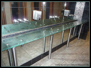 glass bathroom countertop