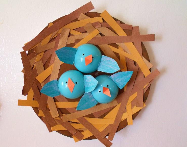 Clever crafty cookin 39 mama baby bird nests for Baby bird nest craft