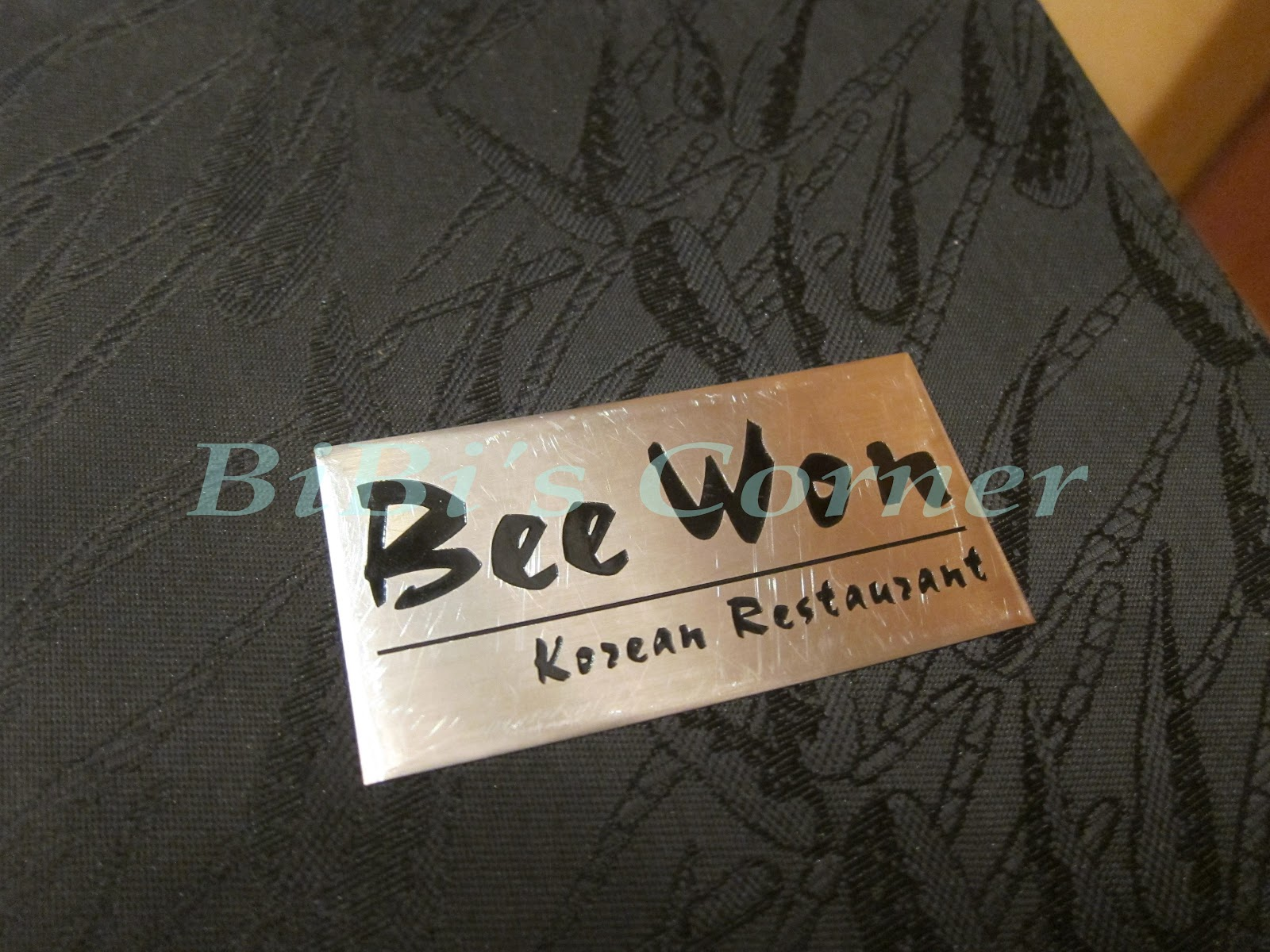 Bee Won Korean Restaurant Menu