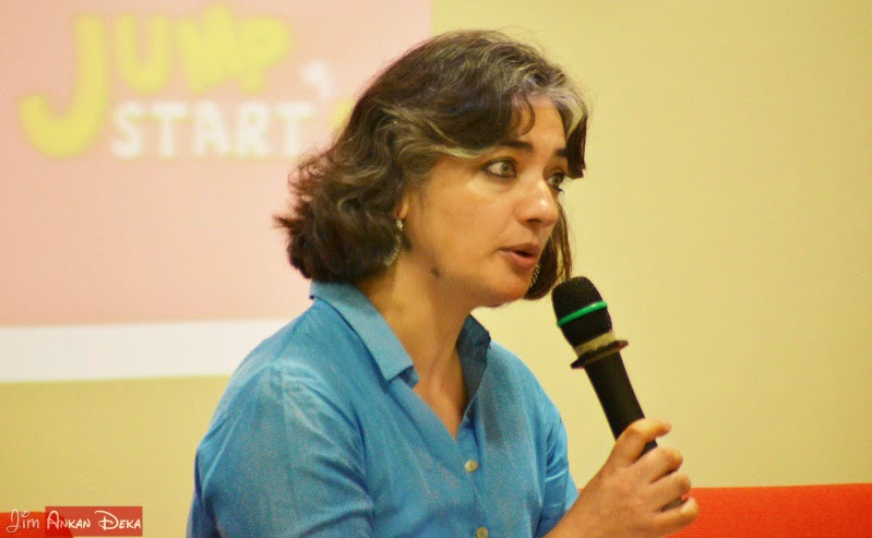 Samina Mishra at Jumpstart-14, Bangalore (photo - Jim Ankan Deka)