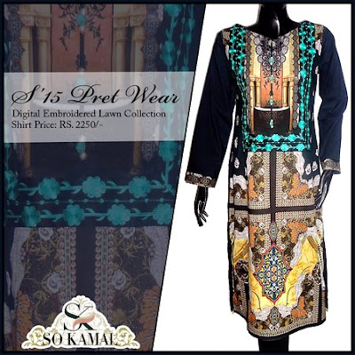 Digital Embroidered Lawn Collection 2015-16 By SO Kamal