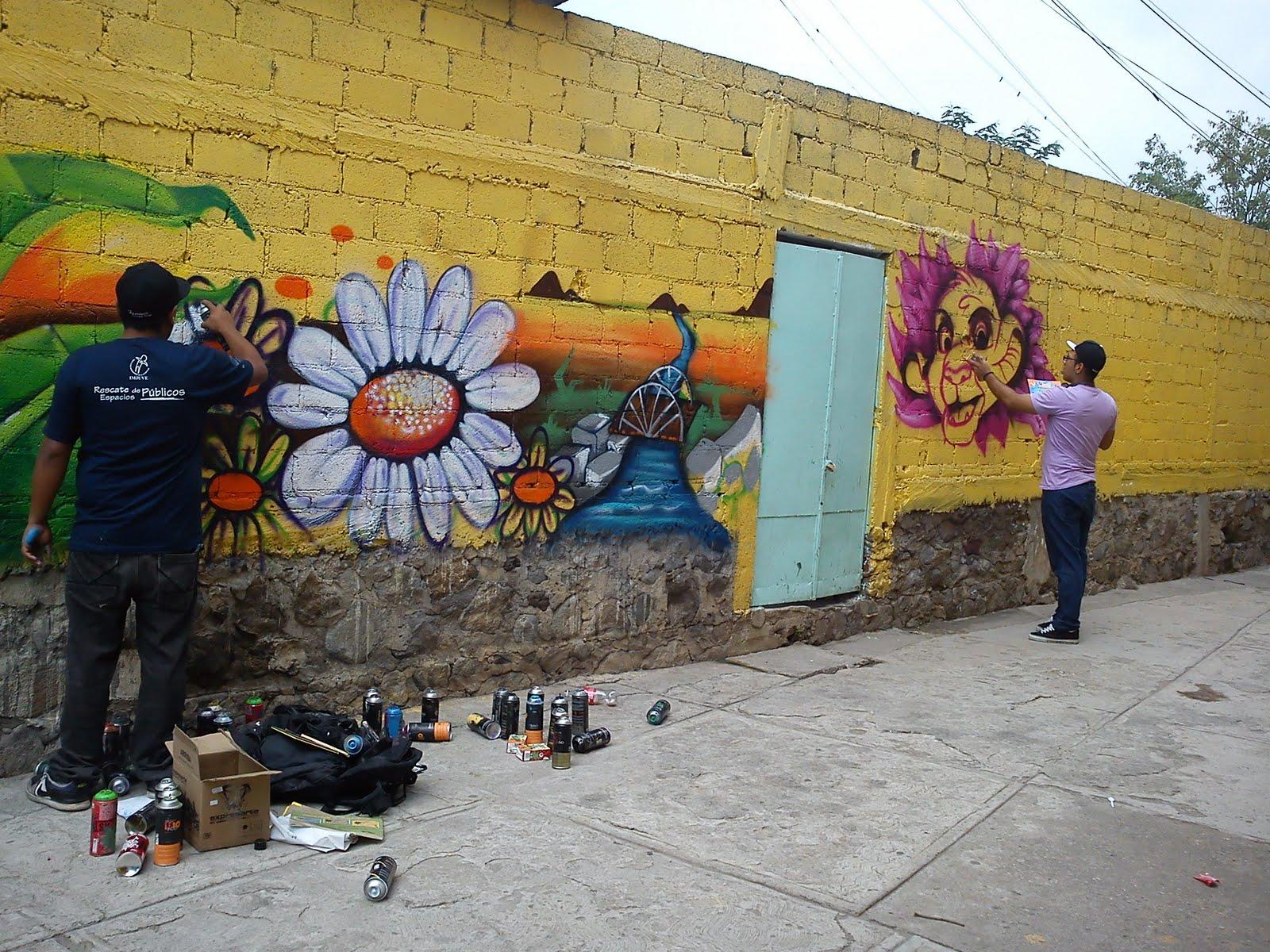 Colectivo arte express tico fotos mural a kinder patios for Arte colectivo mural