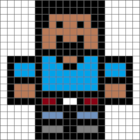 Minecraft pixel art basic colour tutouial