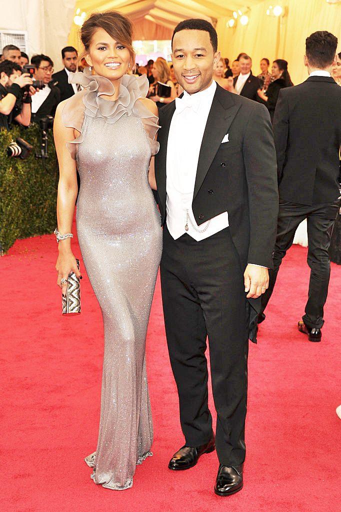 Fashionable Couples at the 2014 Met Gala Chrissy Teigen and John Legend in Ralph Lauren