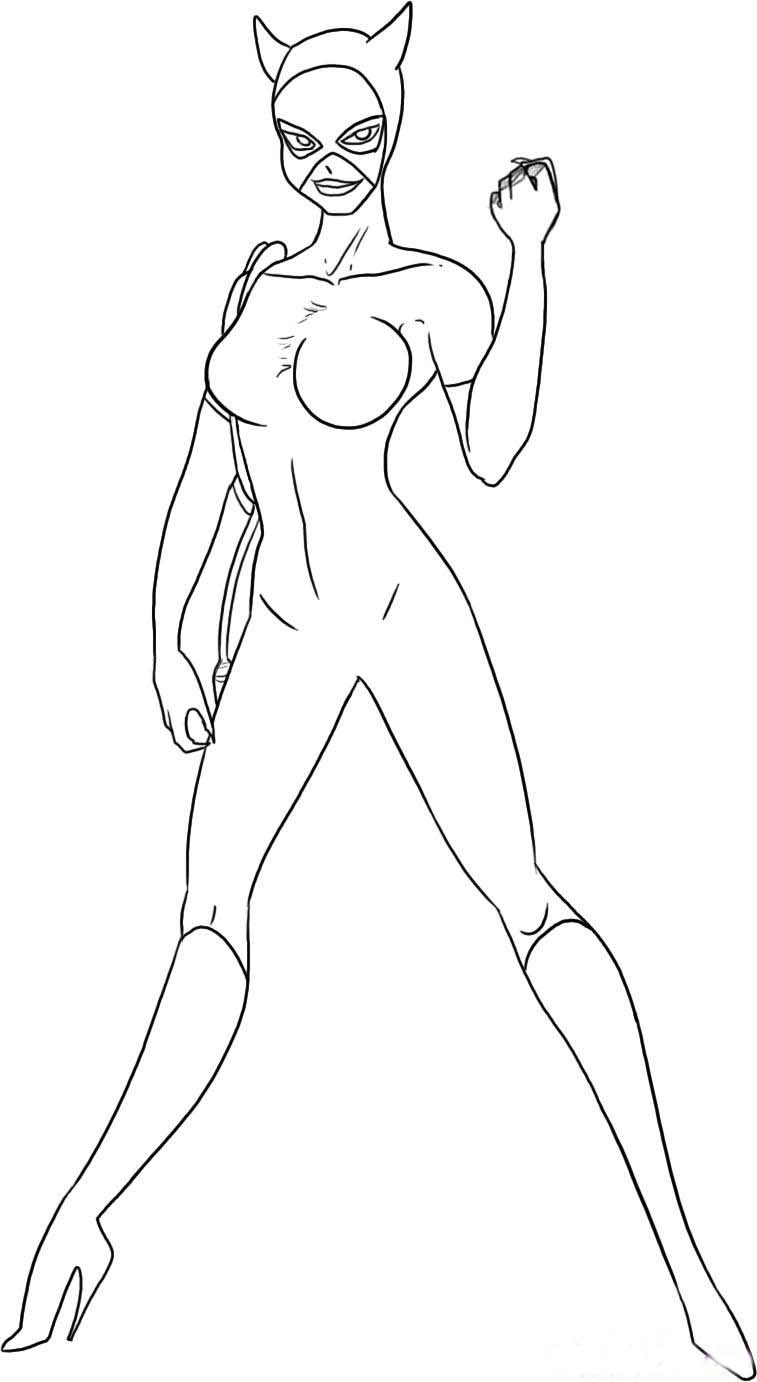 Catwoman Coloring Pictures For Kids