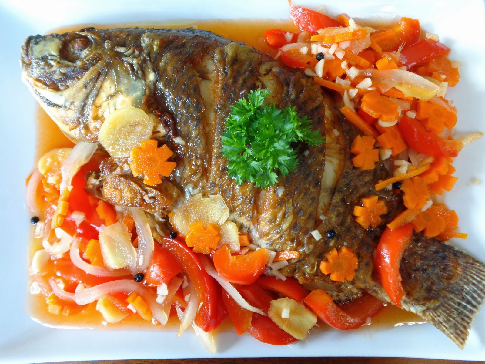 Filipino food aficionado escabeche sweet and sour fish for Fish escabeche recipe