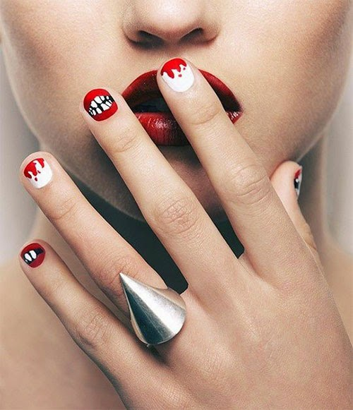 My Top 10 And Top 5 Nail Artists Who: Women Beauty Secrets: Top 10 Scary Halloween Nails Art