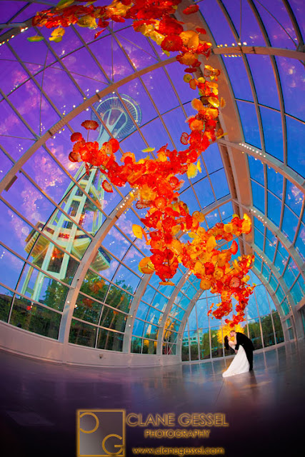 chihuly garden and glass wedding photography seattle