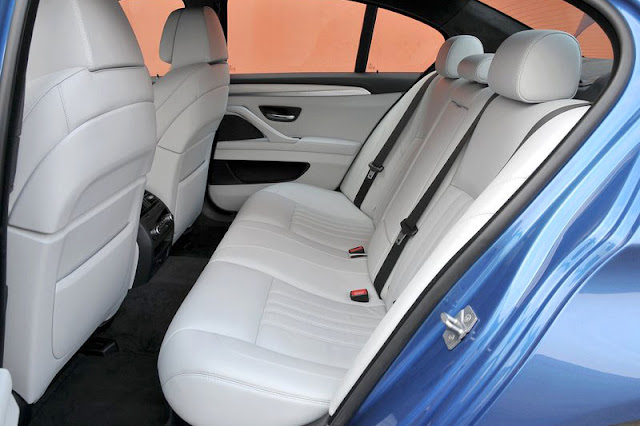2012 BMW M5 Sedan Back Interior Rear View