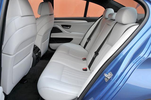 2012 BMW M5 Sedan Back Interior Rear View