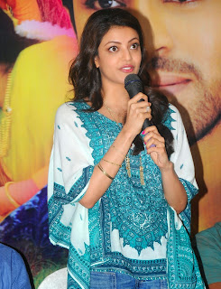Actress Kajal Agarwal Latest Pictures in Jeans at Ovindudu Andarivadele Movie Success Meet  27