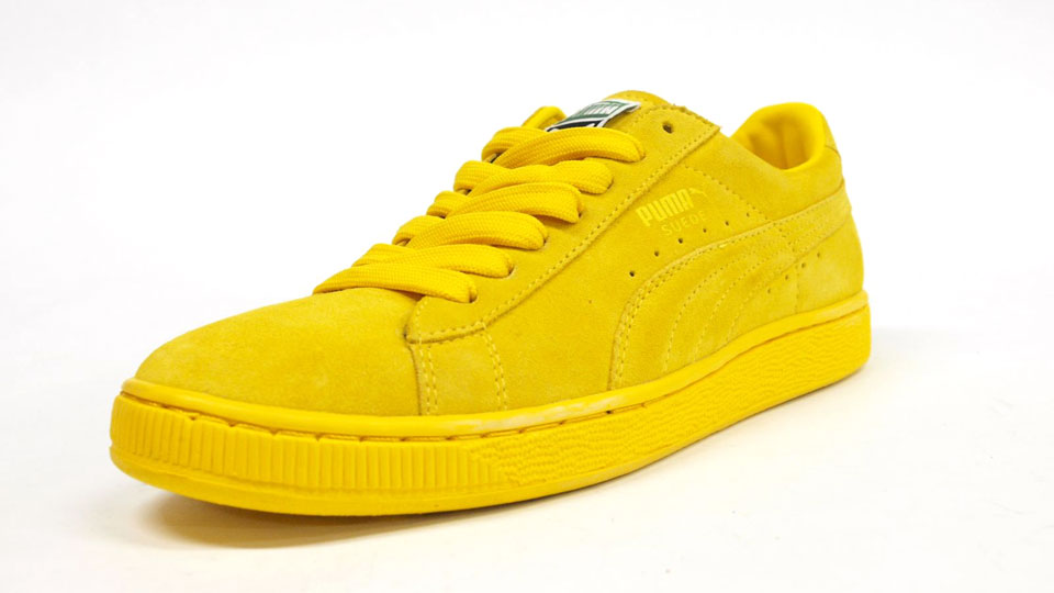 all yellow puma suede