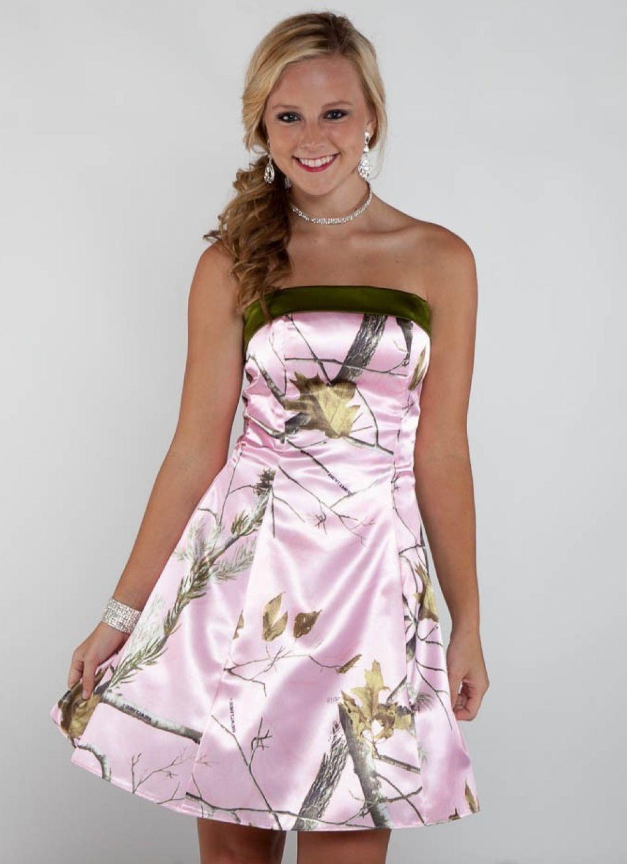 Short Wedding Dresses With Camo