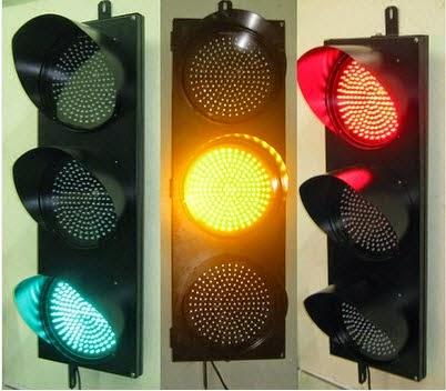 Hình ảnh đèn tín hiệu giao thông 3 màu D 100 xanh vàng đỏ