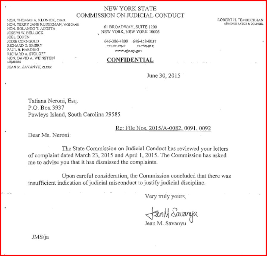 Letter For Judge S Consideration
