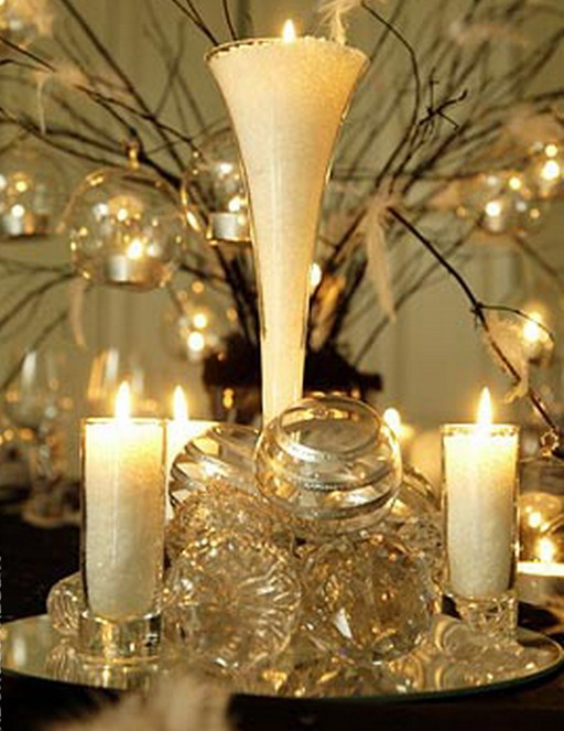 Best wedding ideas gold centerpieces