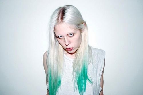 White Hair Blue Dip Dye Blue Hair Looks Dip Dyed