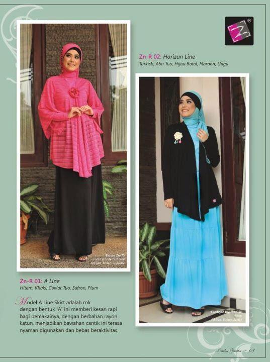 Gamis Katun Dan Model Rok Panjang Muslim Murah Zenitha