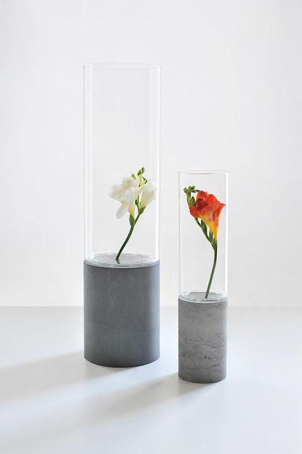 20 diy concrete projects for home decor Diy home decor flower vase