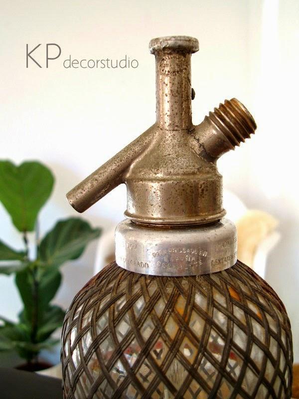 Botellas antiguas, sifones metálicos online.