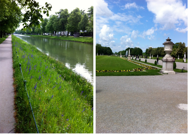 Walk by the canal in Nymphenburg