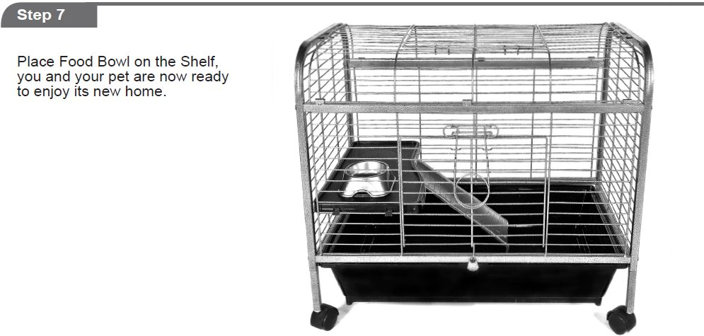 Critter cages blog living room series guinea pig home by ware mfg assembly instructions for Critter ware living room series
