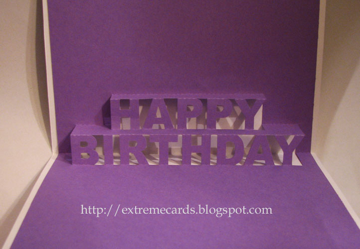 Extreme Cards and Papercrafting Happy Birthday Pop Up Card – Happy Birthday Pop Up Cards