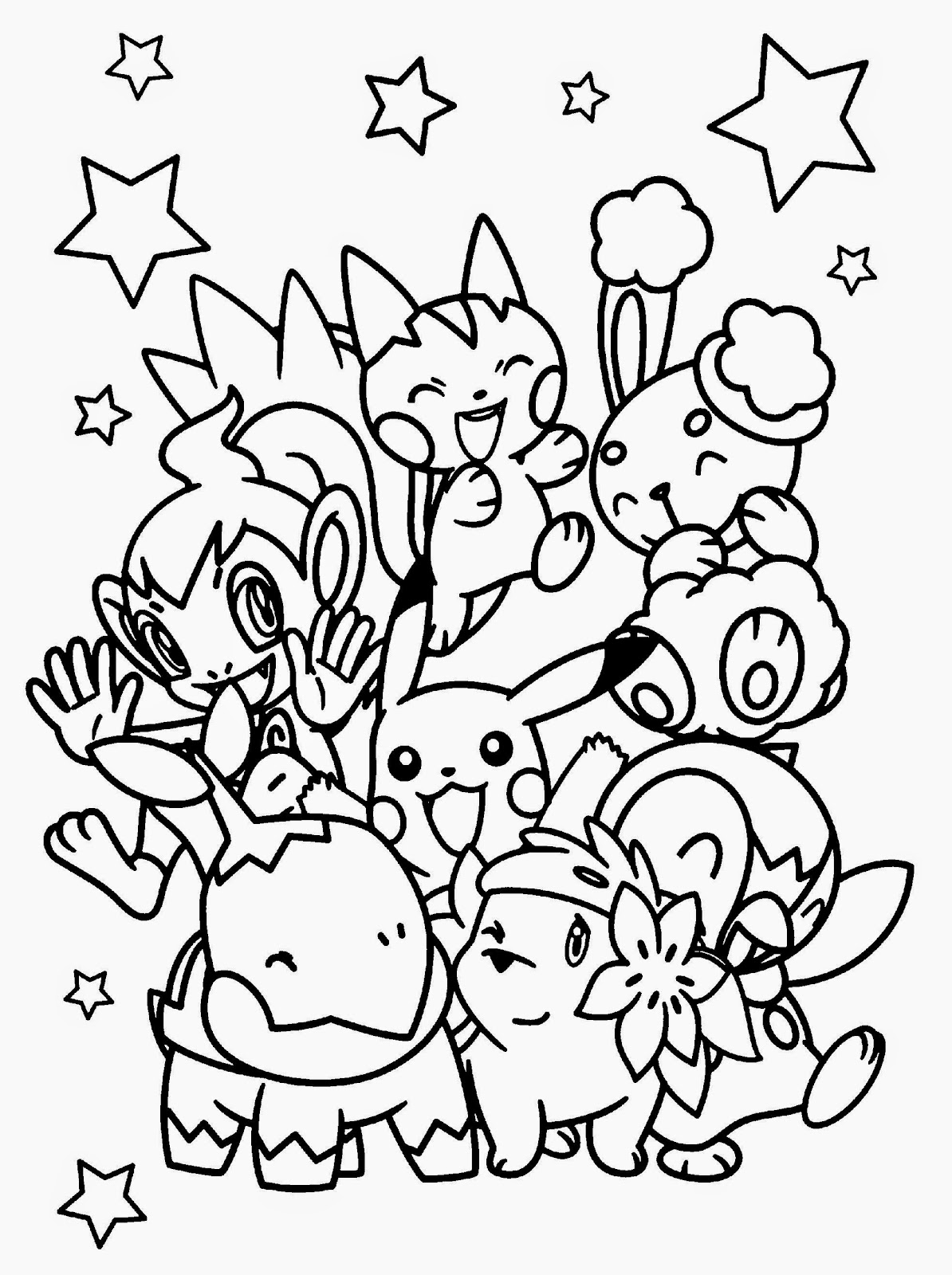 Pokemon Coloring Sheet | Free Coloring Sheet