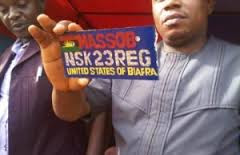 Biafra registration plate