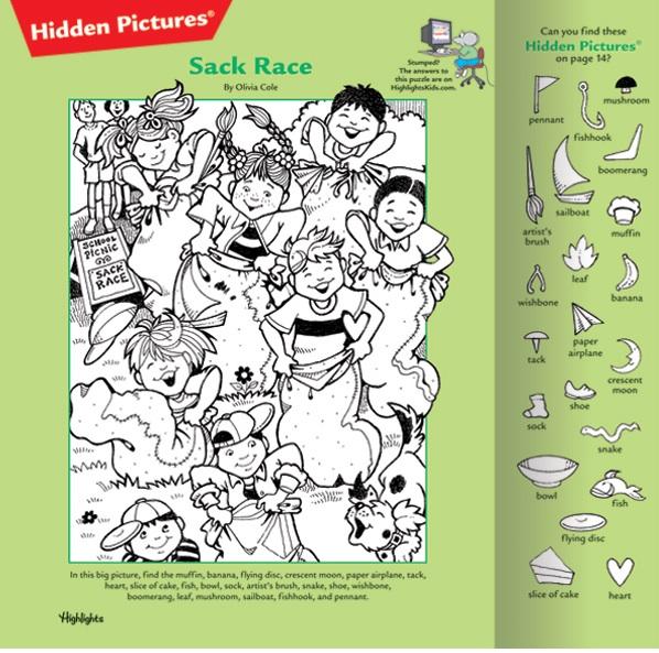 Highlights Magazine Hidden Pictures Printable Gracelinblog: children's ...