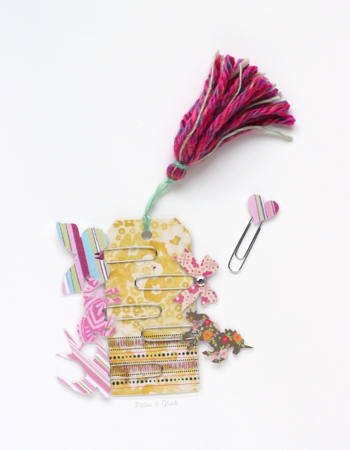 Handmade Decorative Planner Clips | A perfect DIY gift for the planner girl in your life! www.pitterandglink.com