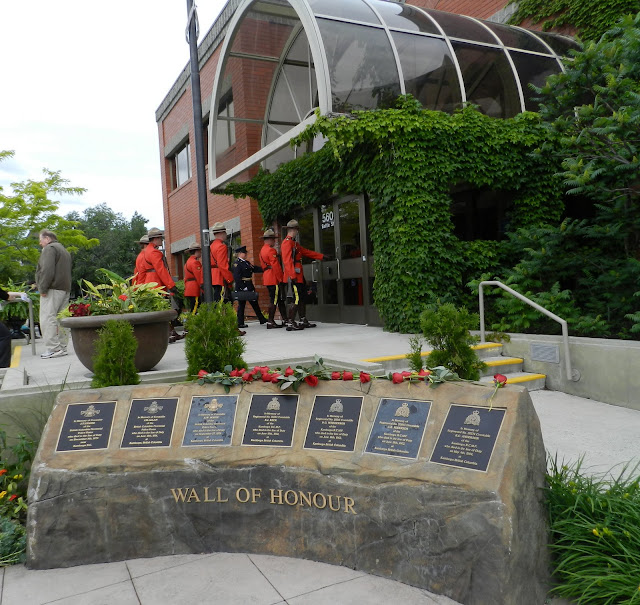 The monument with names of fallen RCMP is called the Wall of Honour