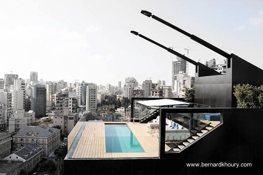 Casa contemporánea al tope de un edificio en Beirut, Líbano