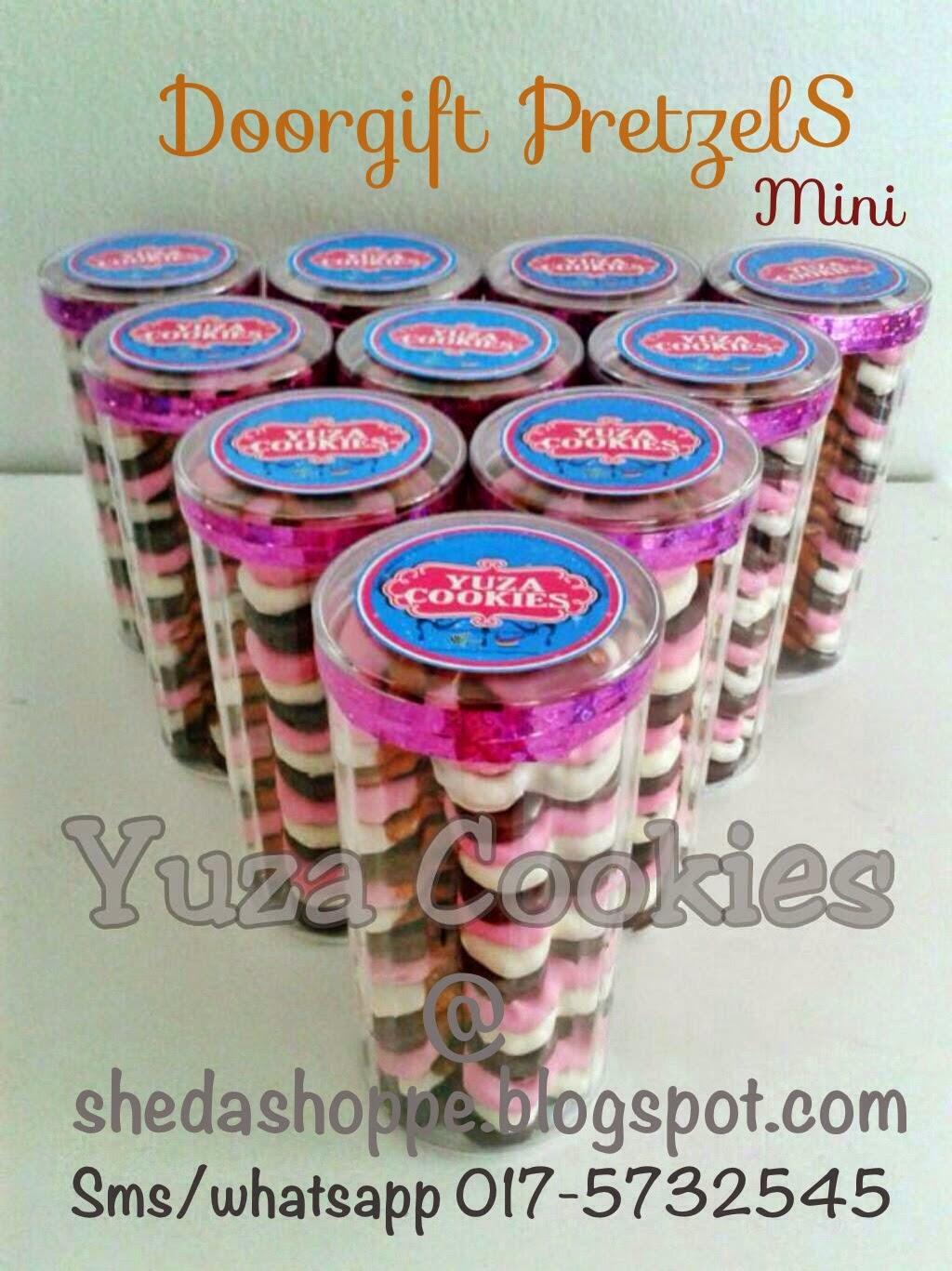 Doorgift pretzels mini for Idea door gift kahwin murah