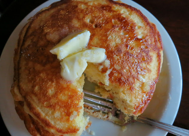 Gour-Maybe?: Ricotta & Buttermilk Pancakes With Honeyed Syrup